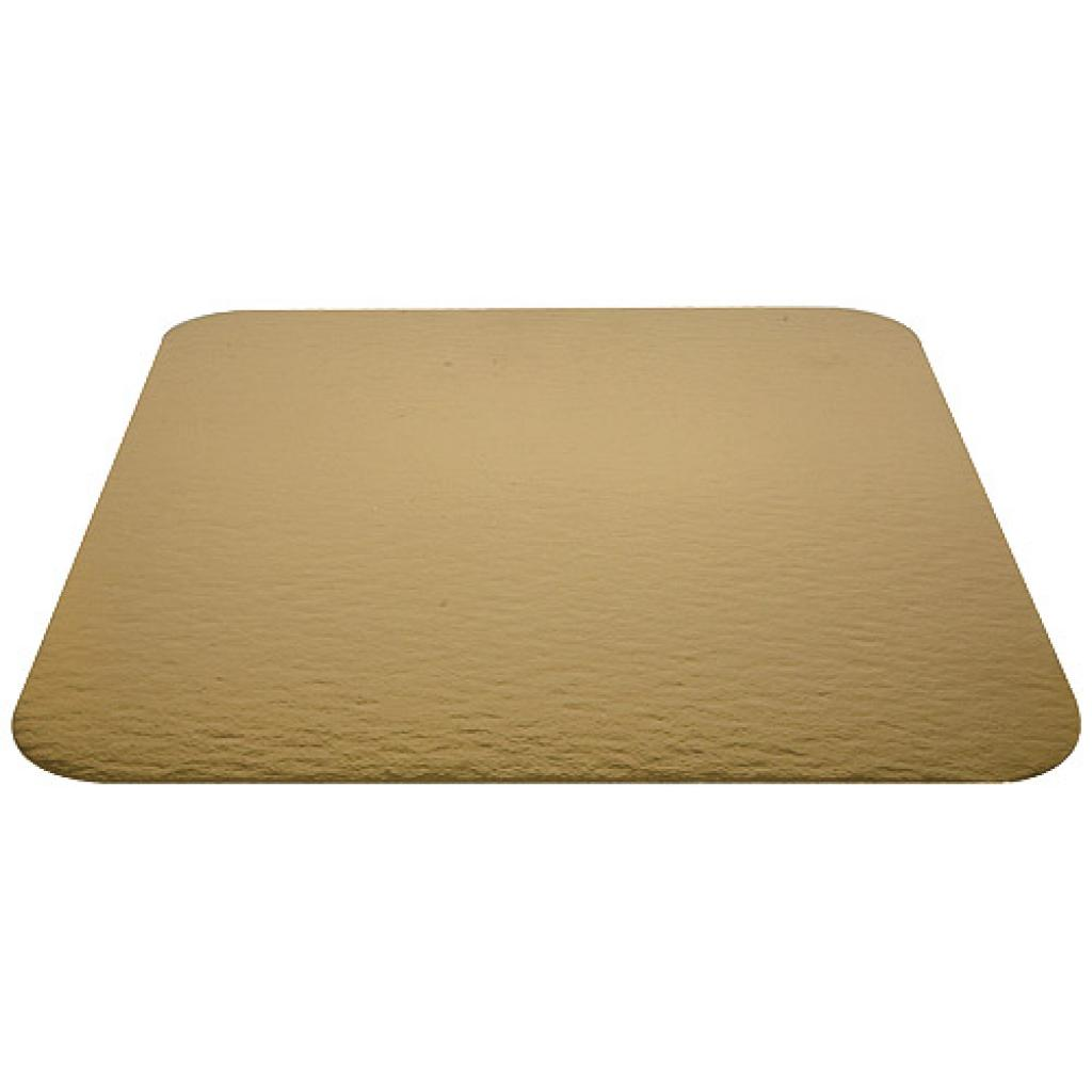 26cm square gold-coloured cardboard tray