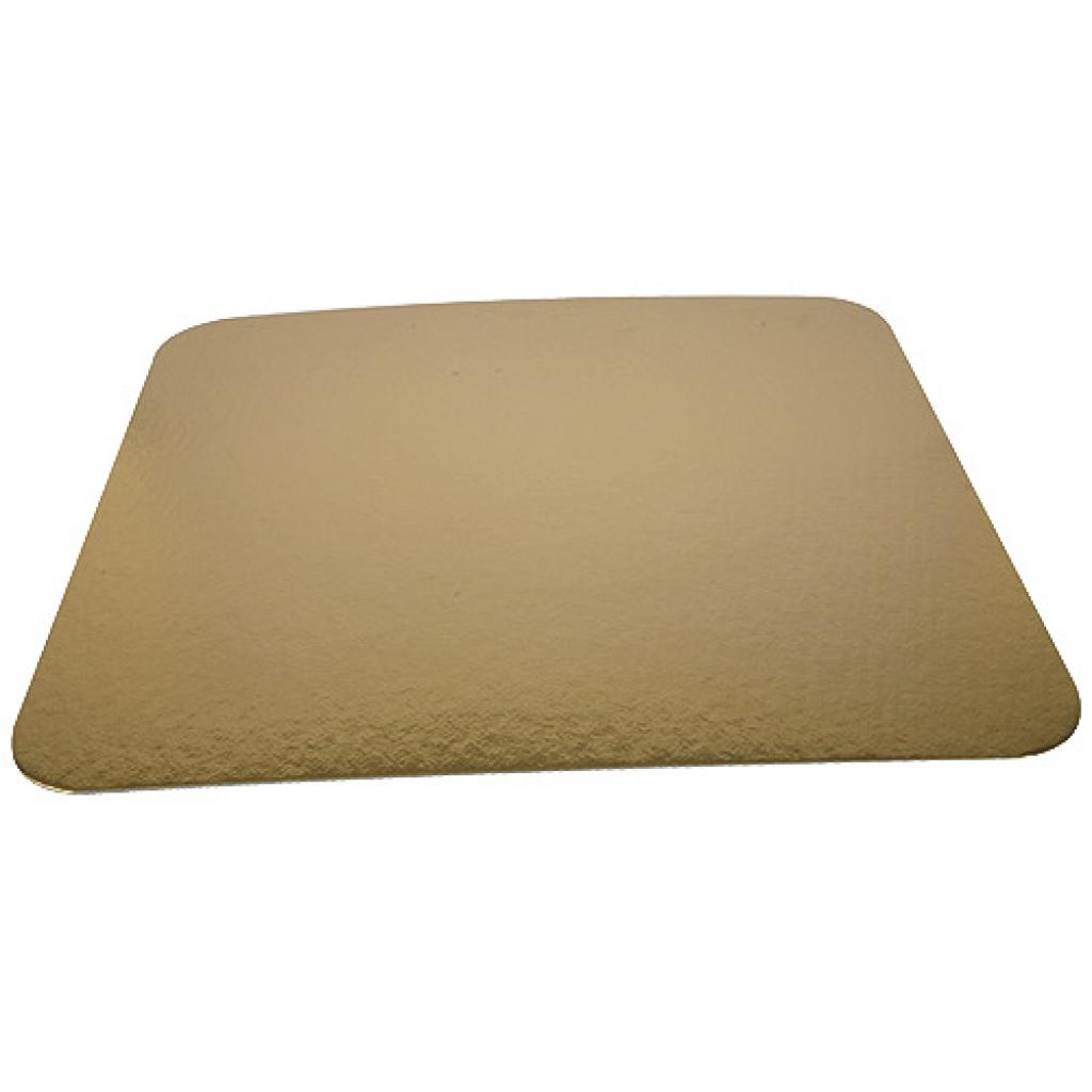 28cm square gold-coloured cardboard tray