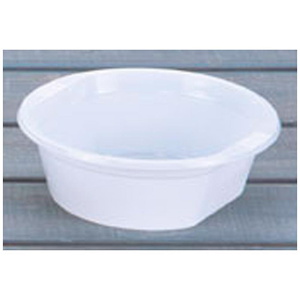 36cl white PS plastic bowl