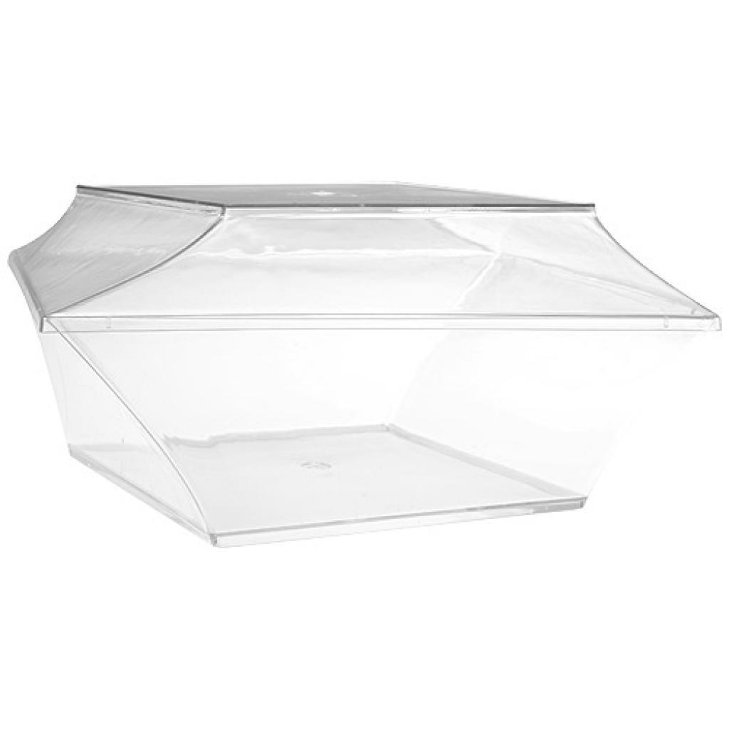 60cl luxury transparent PET salad bowl