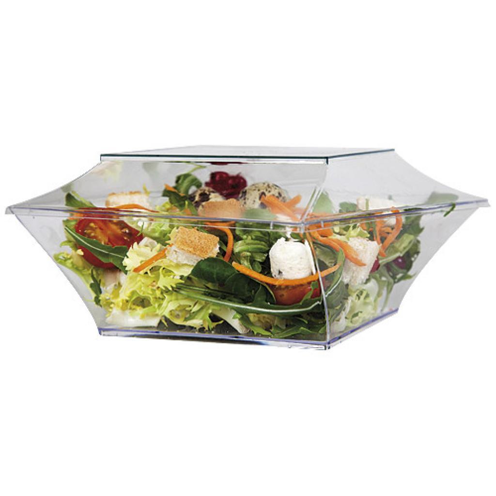 60cl luxury transparent PET salad bowl 2