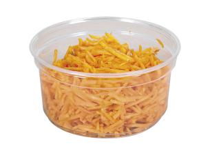 12oz - 34cl circular PET plastic salad bowl