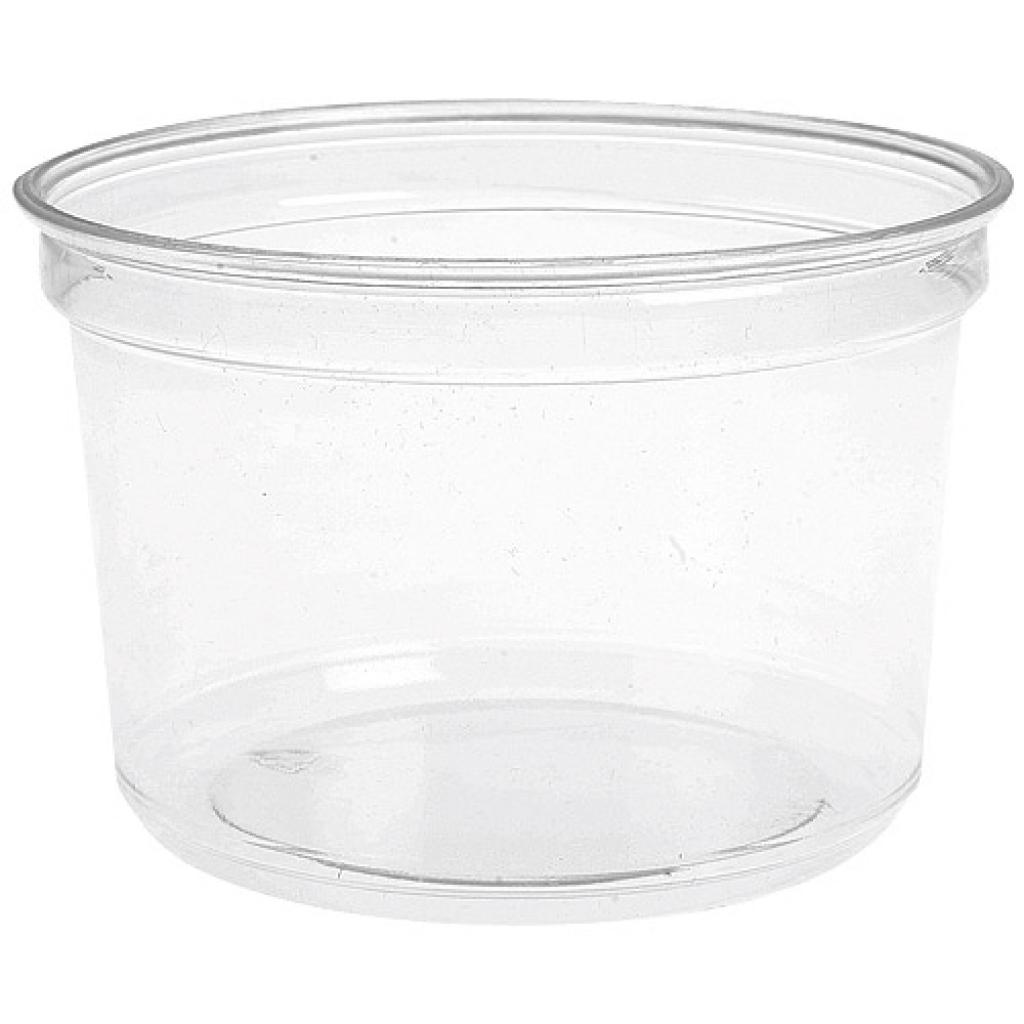 16oz - 48cl circular PET plastic salad bowl 3