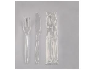 Luxury transparent 2 in 1 cutlery set