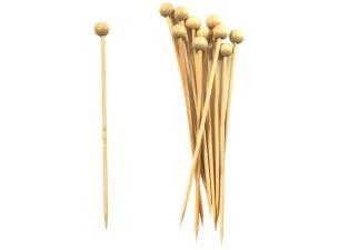 Bamboo natural color ball skewer 120mm