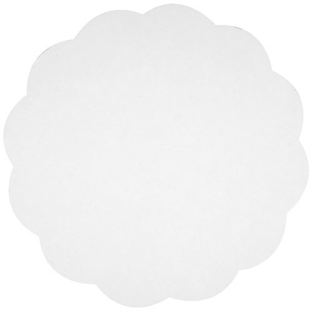 Rond en carton blanc Ø 15 cm