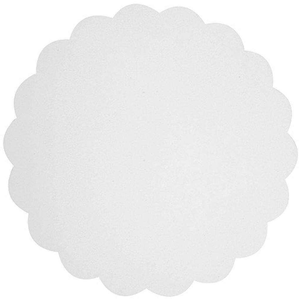 White cardboard circular tray Ø 17cm