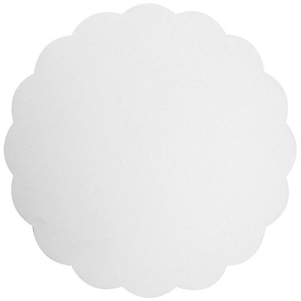 Rond en carton blanc Ø 19 / 20 cm