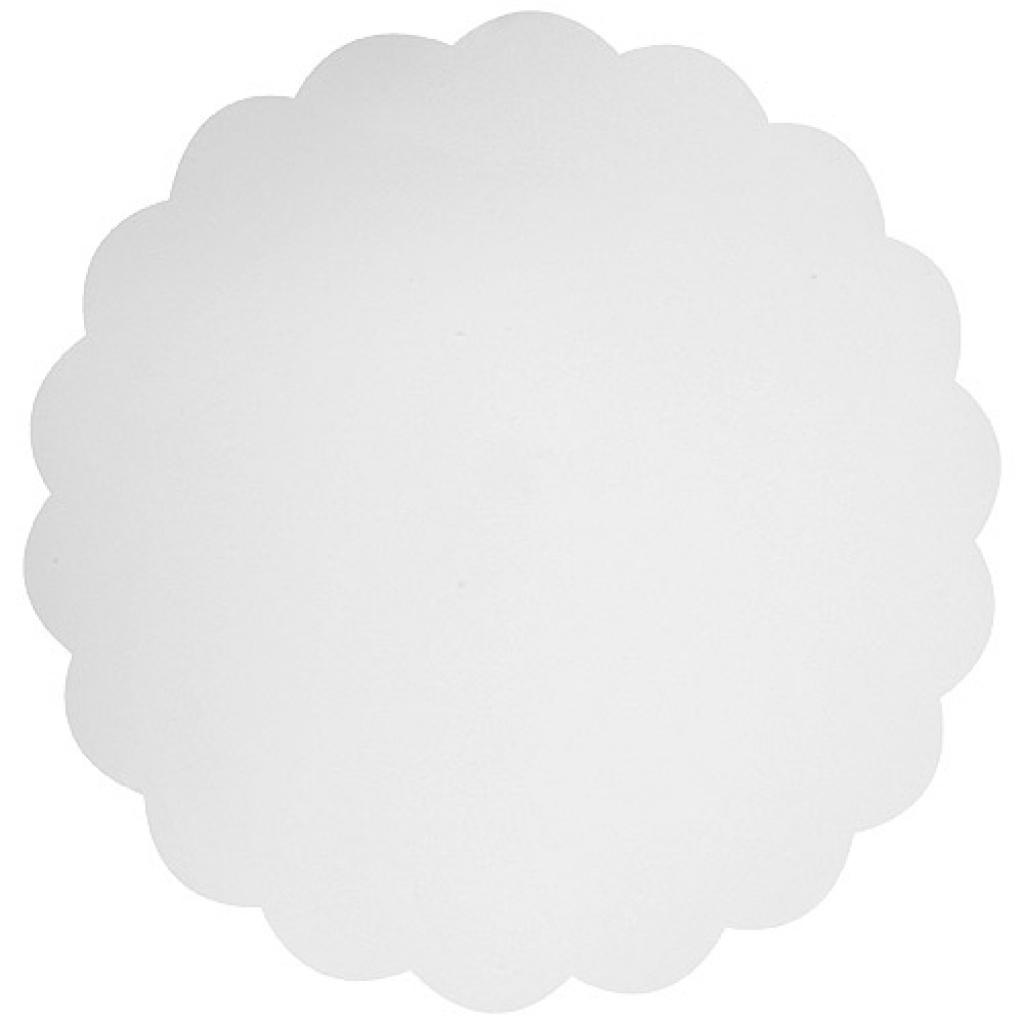White cardboard circular tray Ø 23cm