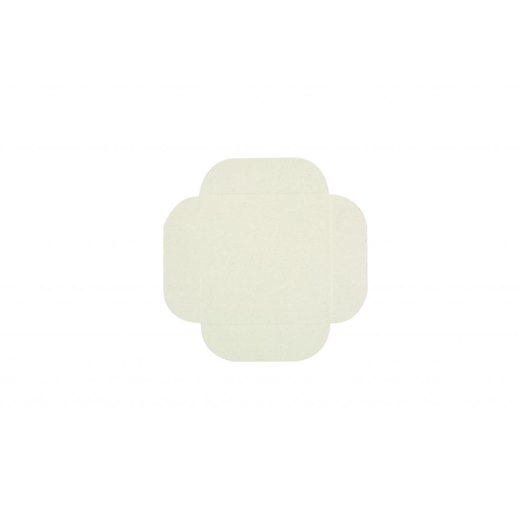 Carré rainé en carton blanc 11 cm 2