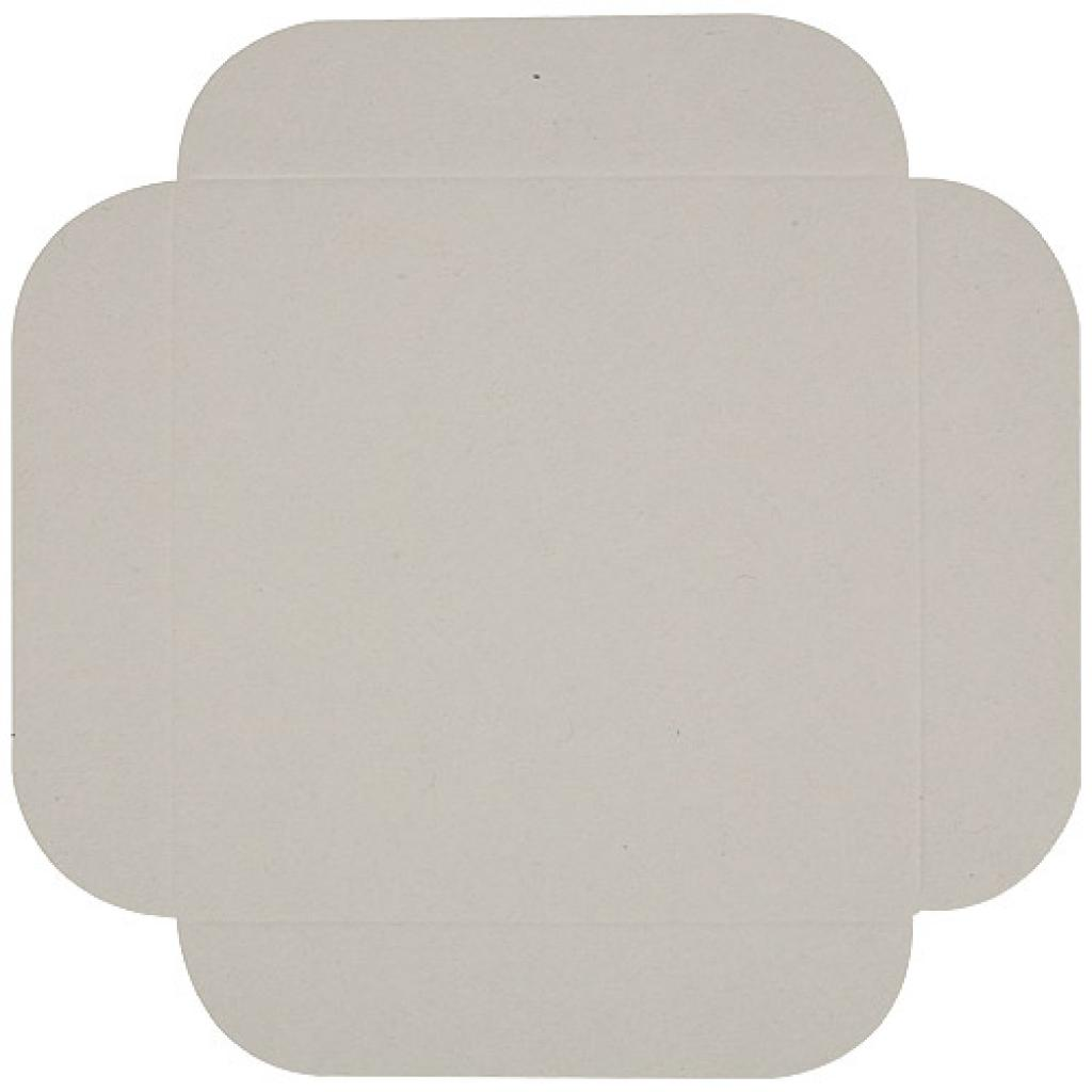 13cm grooved white cardboard square tray 2