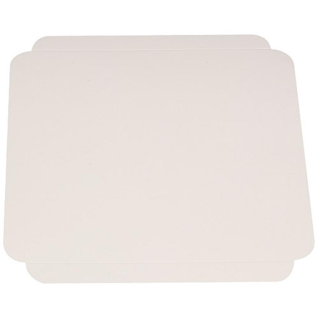 27cm grooved white cardboard square tray 2
