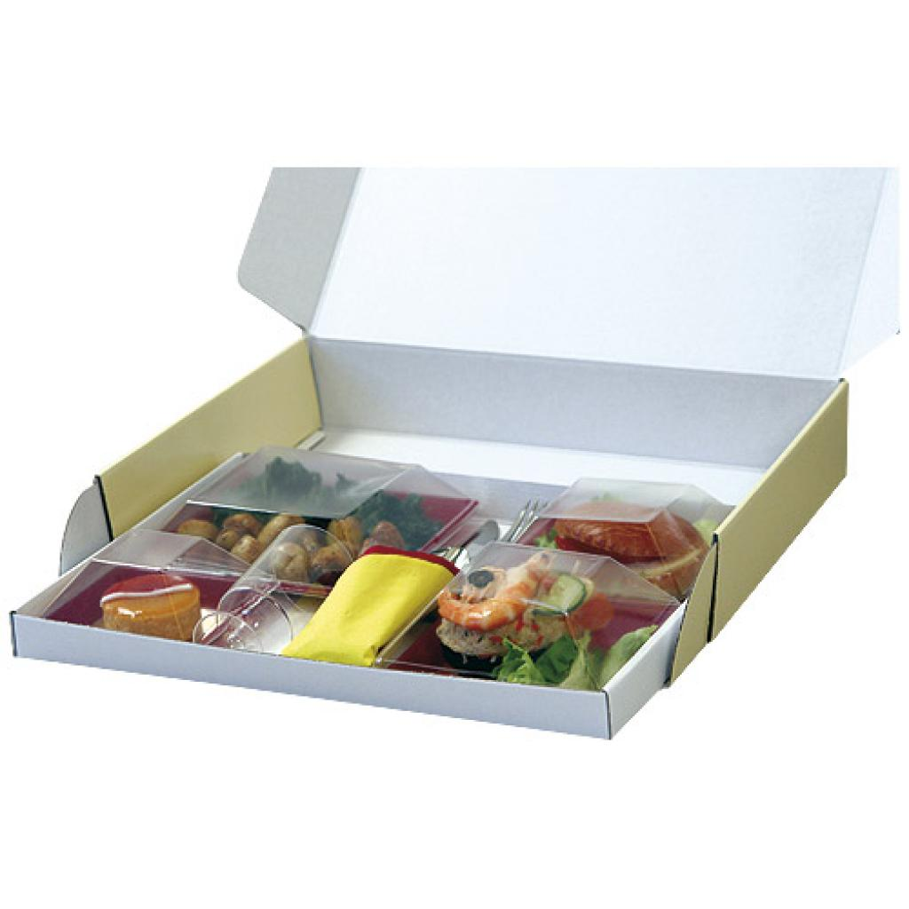 Cardboard pull-out base for 38x29x3 cm tray