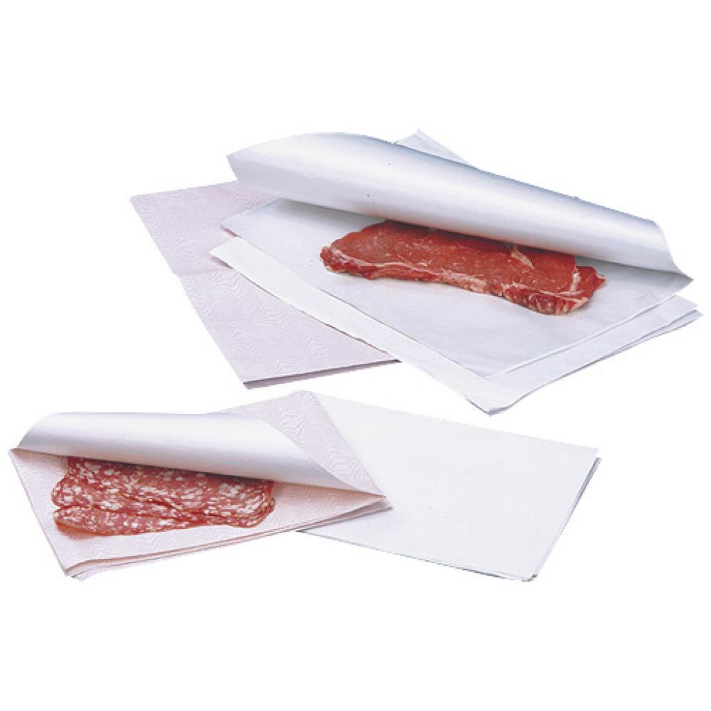 Papier ingraissable blanc en format 25x32 cm
