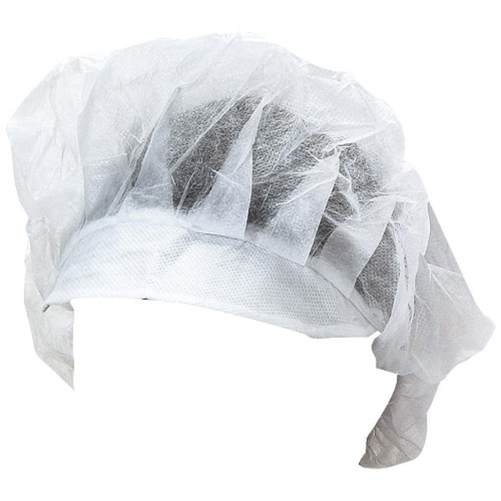 Size 50 non-woven hygiene cap with a visor