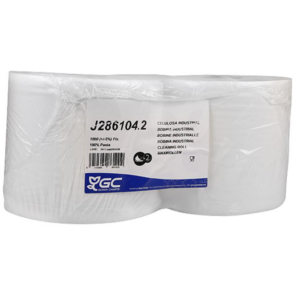 White cellulose roll, 2 folds x 1000