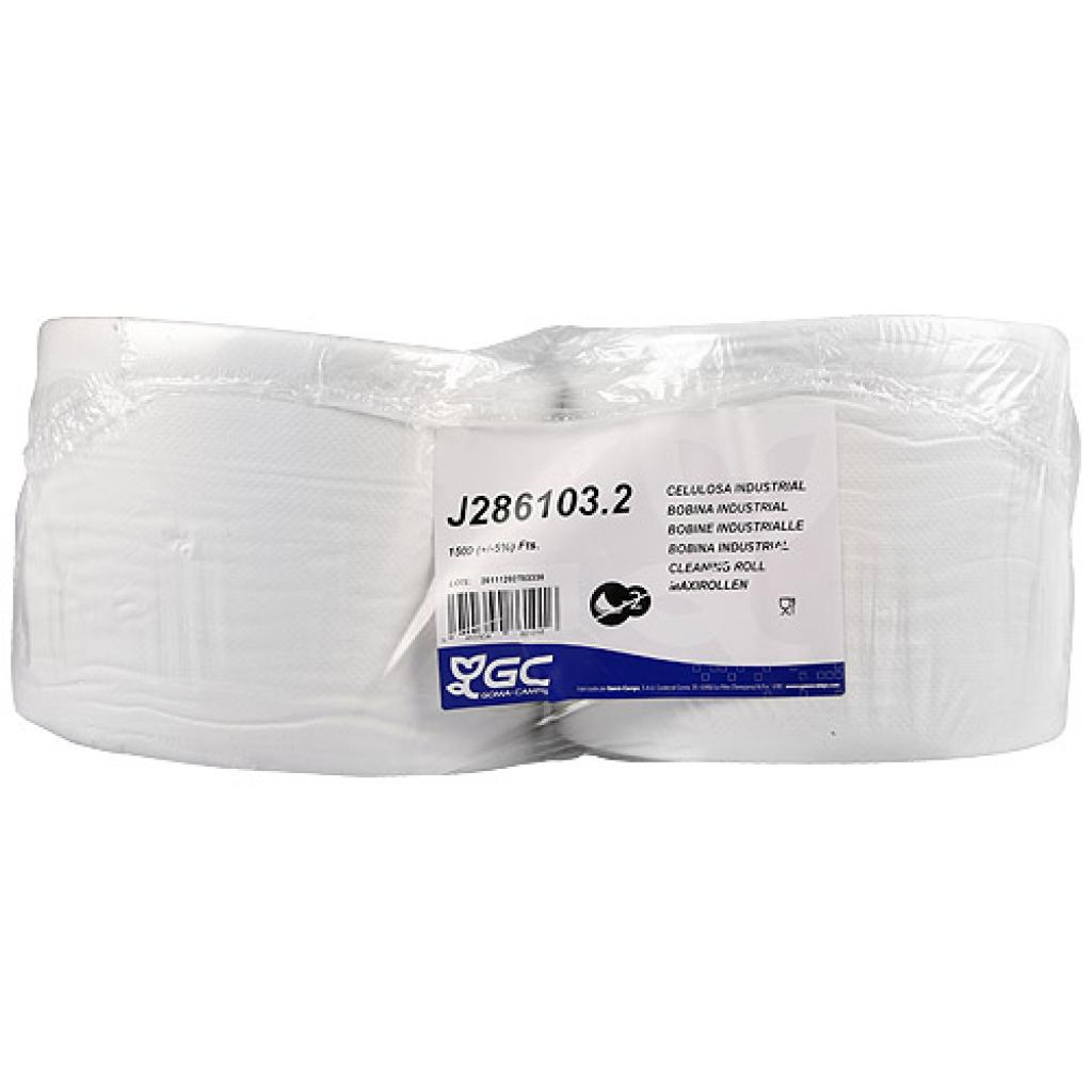 White cellulose roll, 2 folds x 500