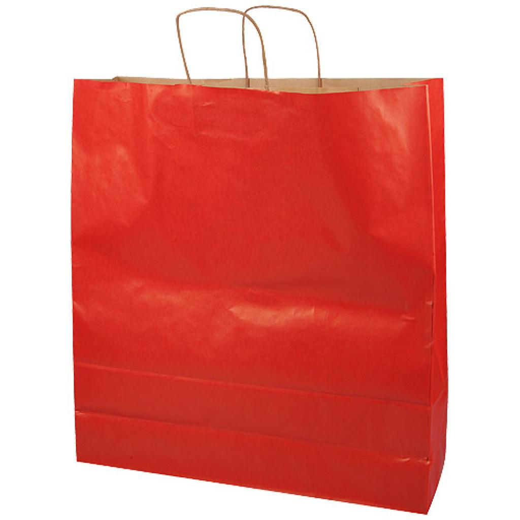Red kraft paper bag with handles, 110g/m² 46x14x50 cm