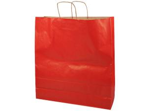 Red kraft paper bag with handles, 110g/m² 46x14x50 cm