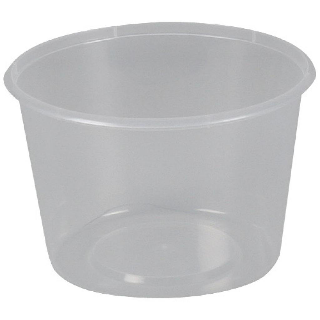 525ml circular PP plastic pot with matching lid 3