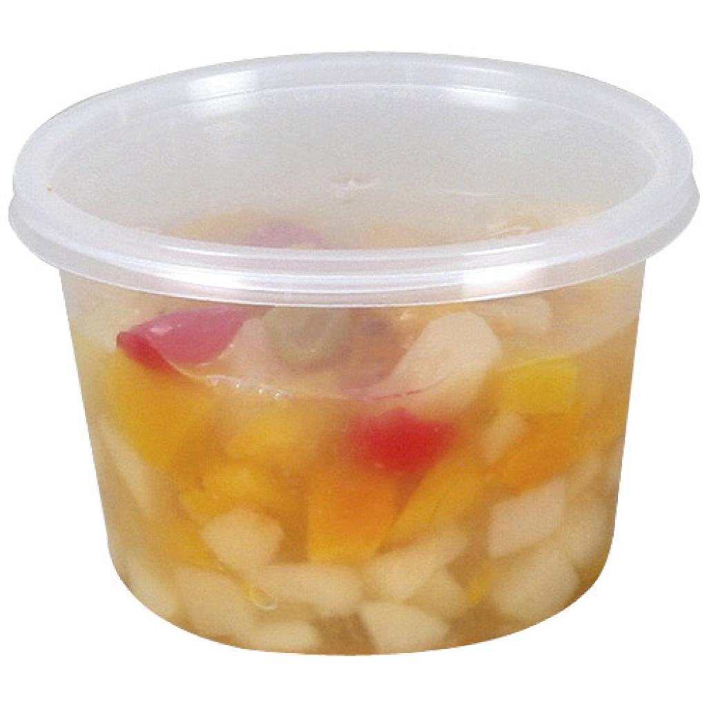 525ml circular PP plastic pot with matching lid