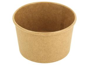 Brown 24cl / 8oz reinforced paperboard soup pot