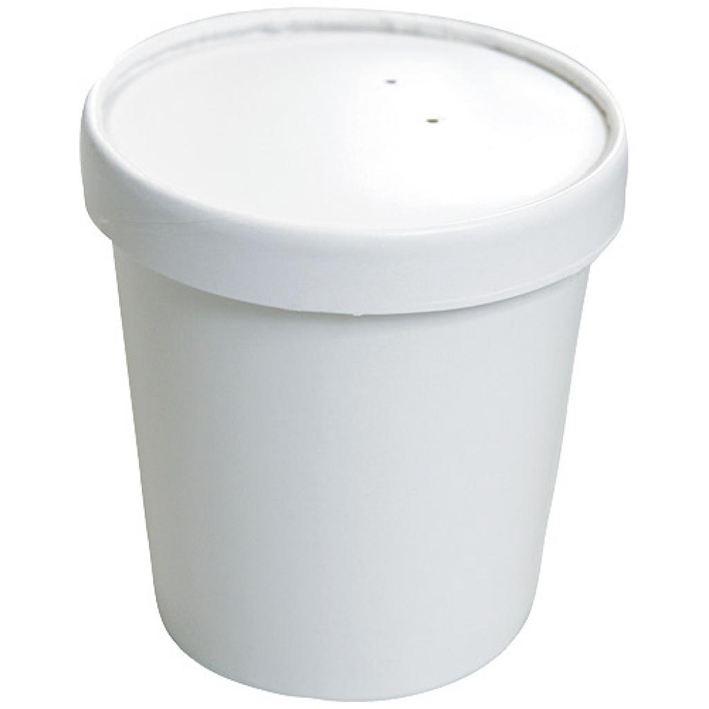 36cl / 12oz white reinforced paperboard soup pot