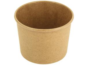 Brown paperboard soup cup 350 ml