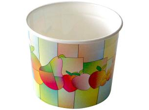 2-scoop paperboard fruit-print ice cream cup