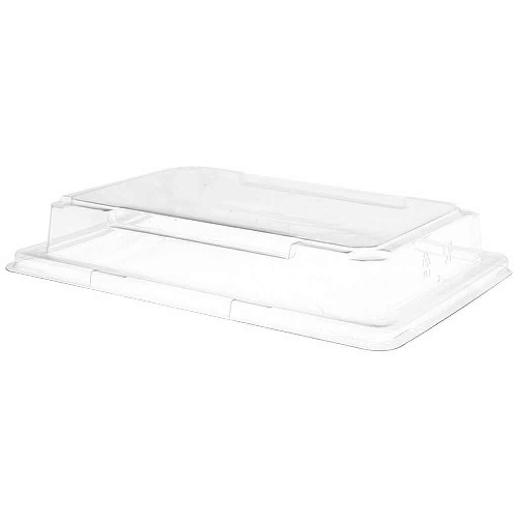 Transparent PS lid for sushi dish 190X134X30