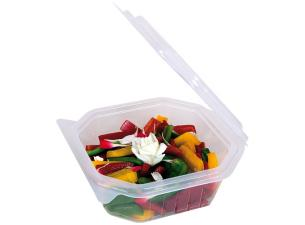 750g octagonal PP container with matching lid