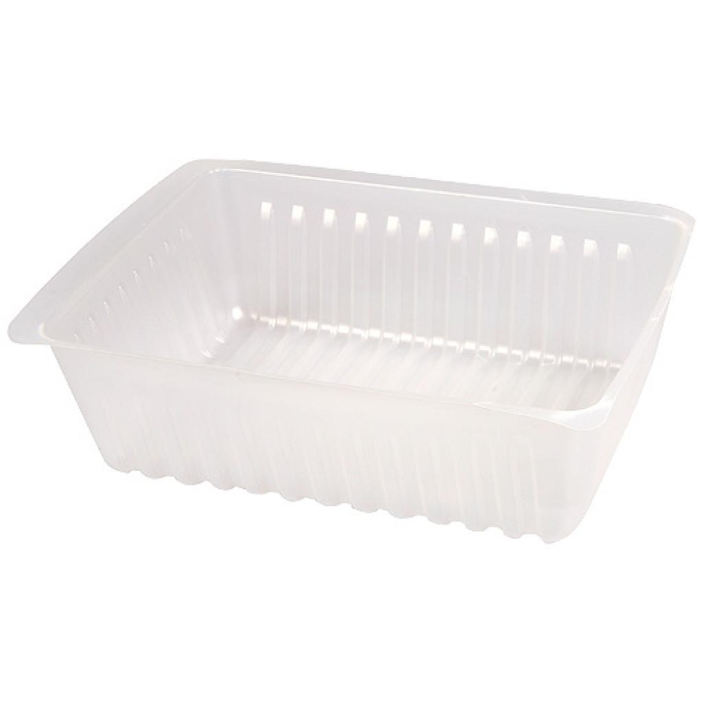 Barquette plastique PS transparente 1.5 kg