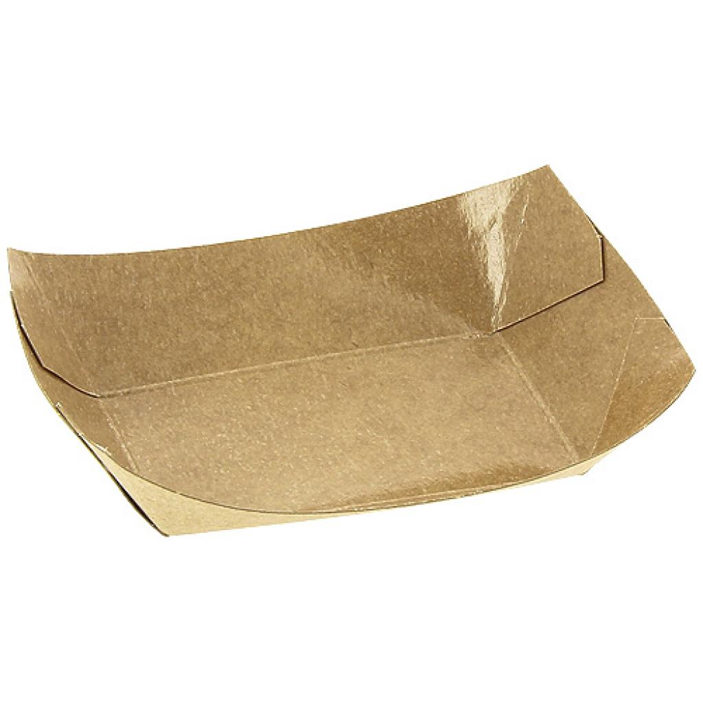 Kraft paperboard chip container 85X50X35 mm