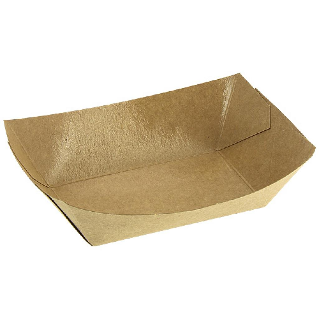 Kraft paperboard chip container 100X60X40 mm