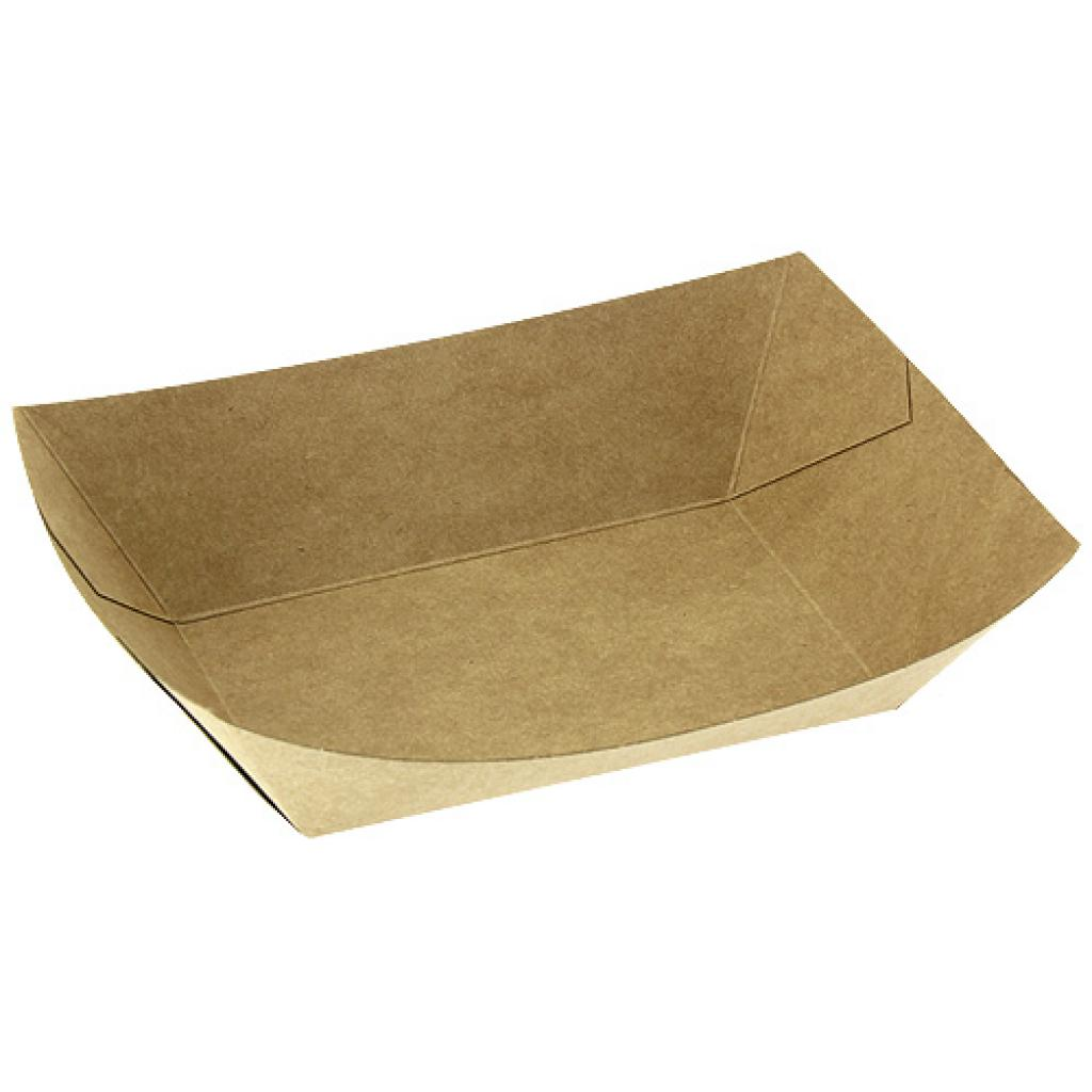 Kraft paperboard chip container 105X65X45 mm
