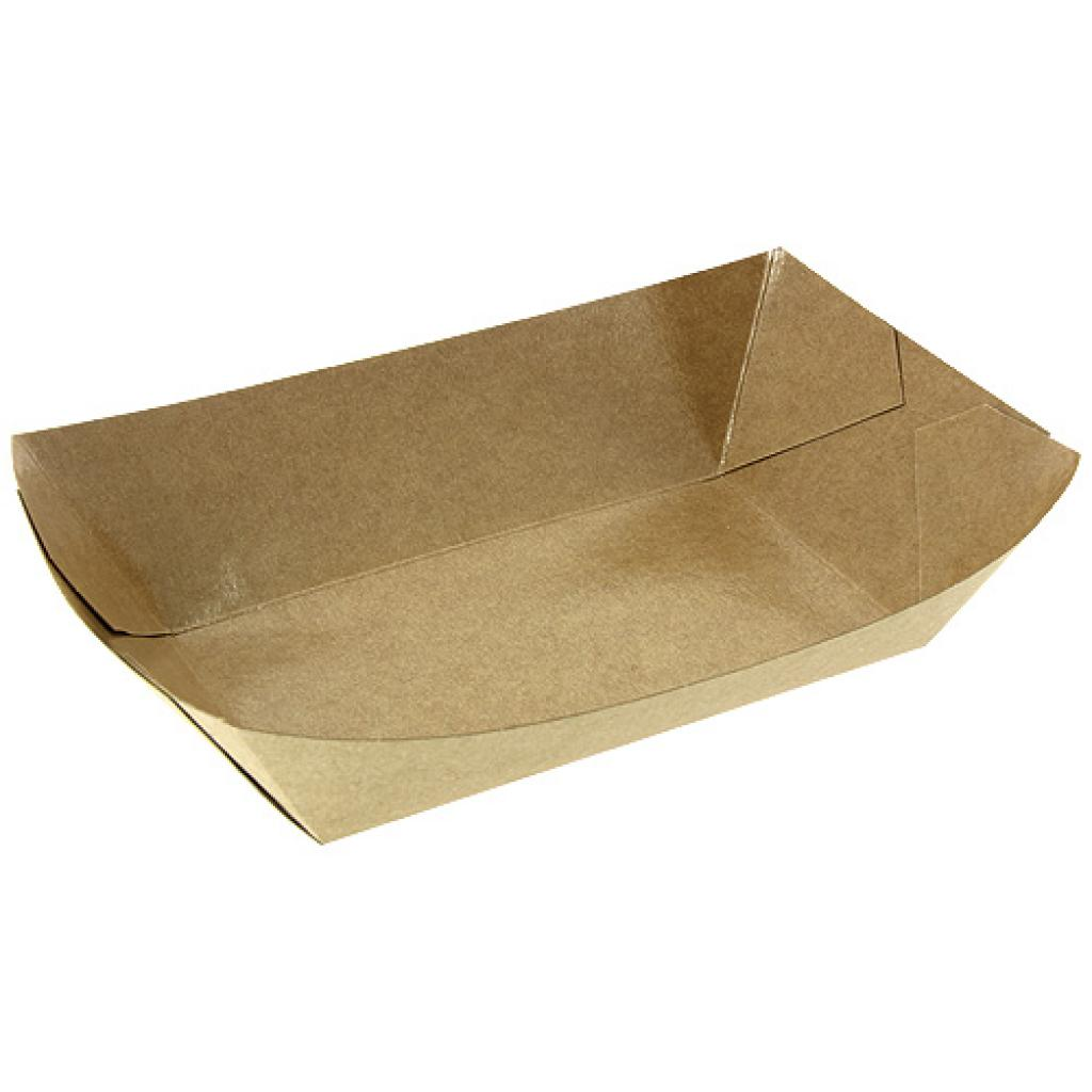 Kraft paperboard chip container 165X95X60 mm