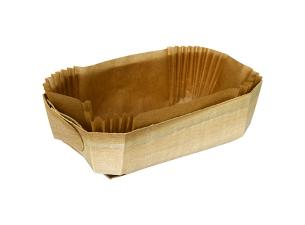 Baking Container in Wood 120X60XH40MM + Paper Liner X600