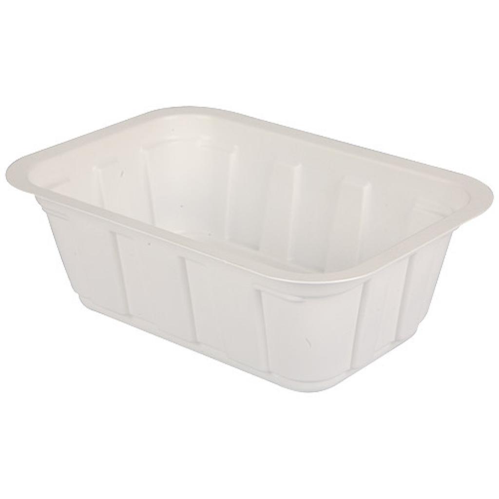 Barquette plastique TMF blanche 375 g