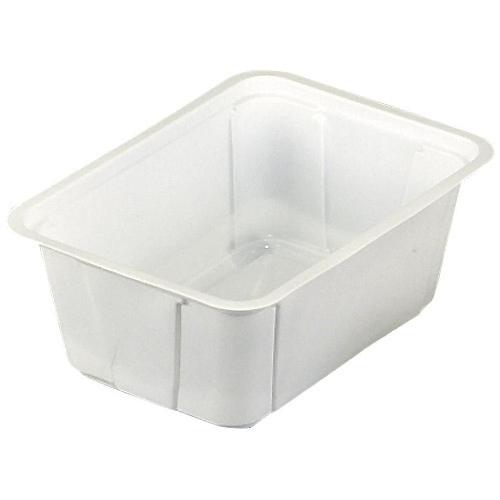 Barquette plastique TMF blanche 500 g