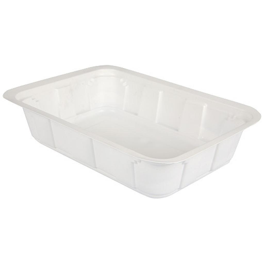 Barquette plastique TMF blanche 750 g