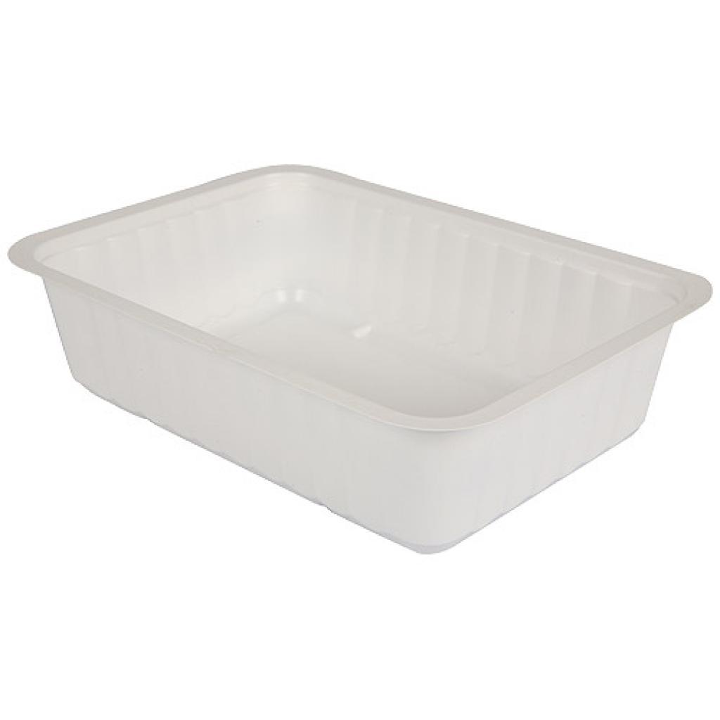 Barquette plastique TMF blanche 900 g