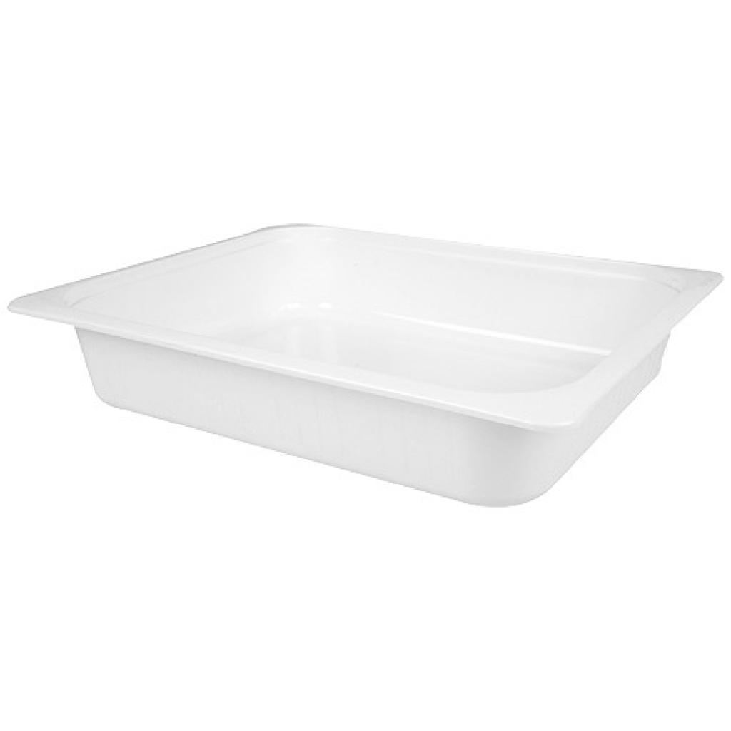 White GN ½  plastic container, 60mm depth