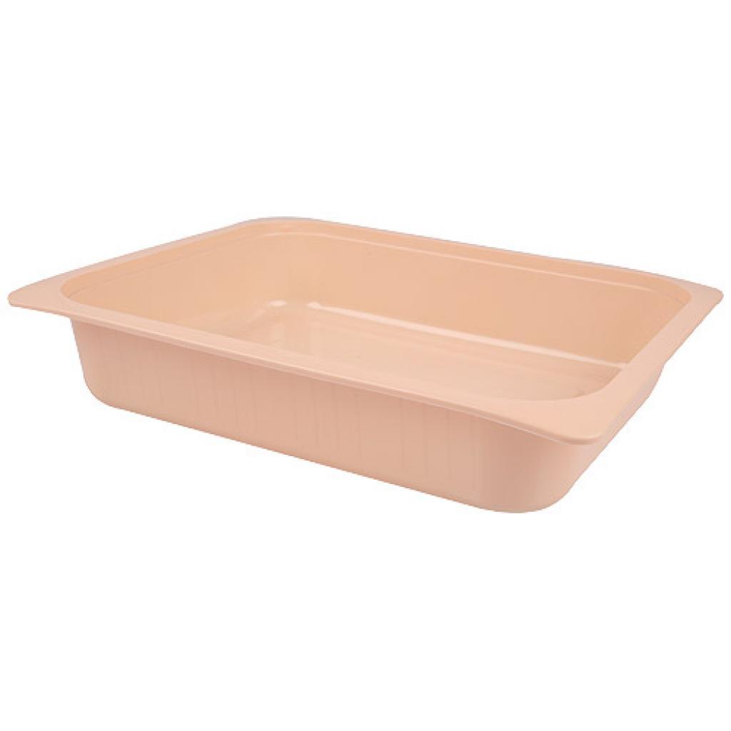 Barquette plastique GN ½  saumon h 60 mm