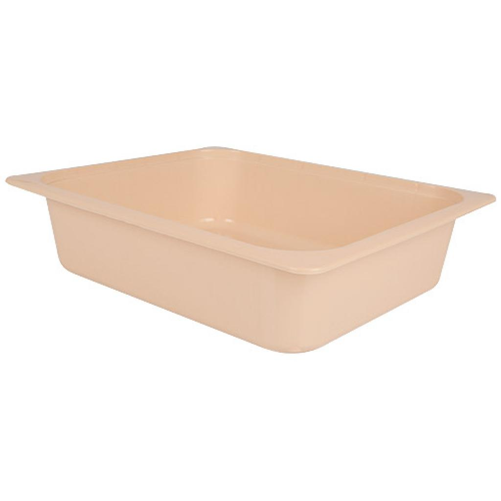 ½  salmon pink PP container, 80mm depth