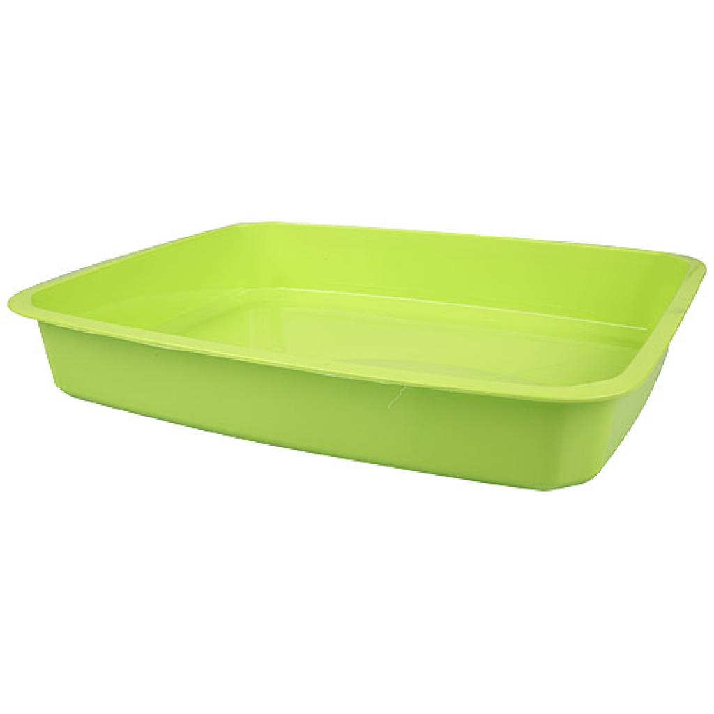 ½ green moulded PP container, 52mm depth