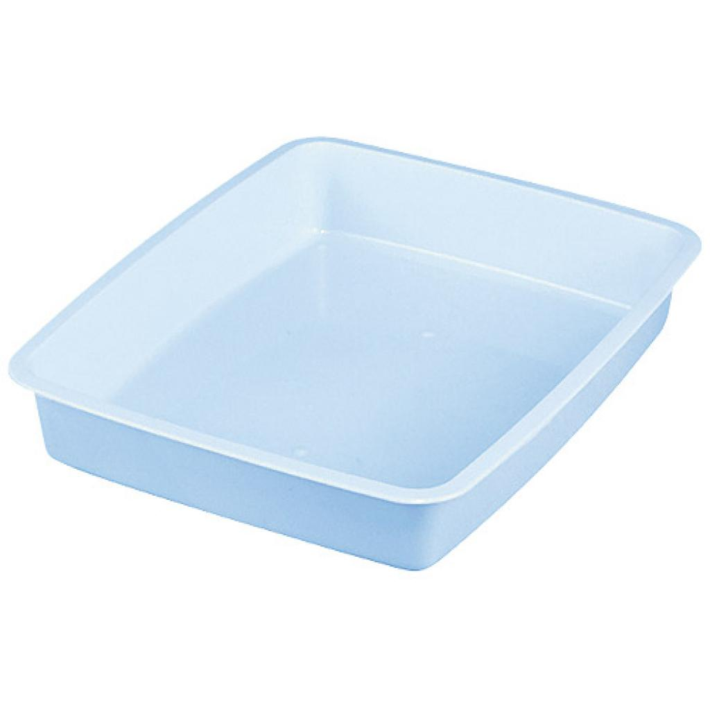 ½ blue moulded PP container, 52mm depth