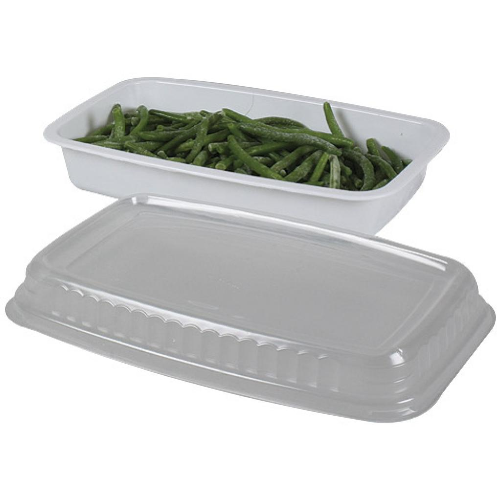 White GN 1/4 plastic container, 45mm depth 2