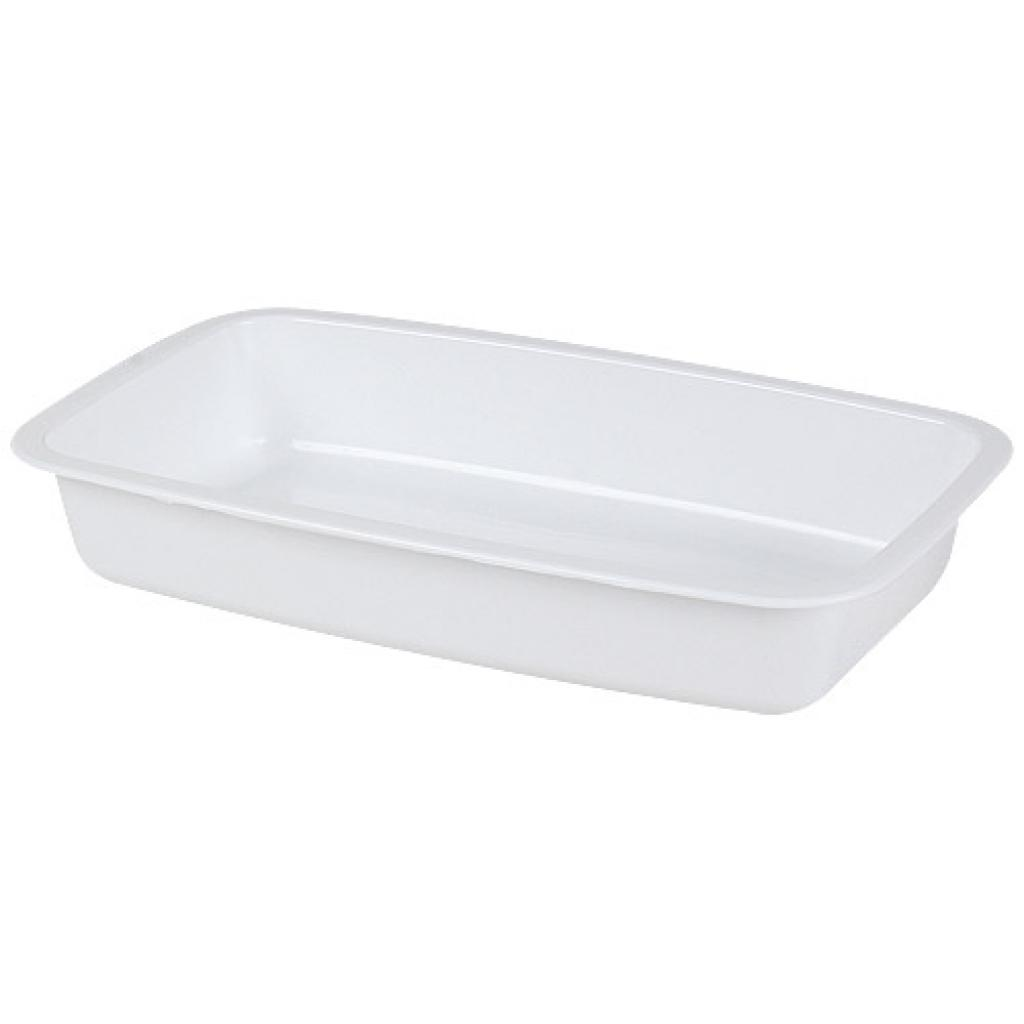 White GN 1/4 plastic container, 55mm depth