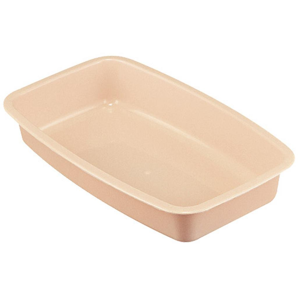 Salmon pink GN 1/4 plastic container, 55mm depth