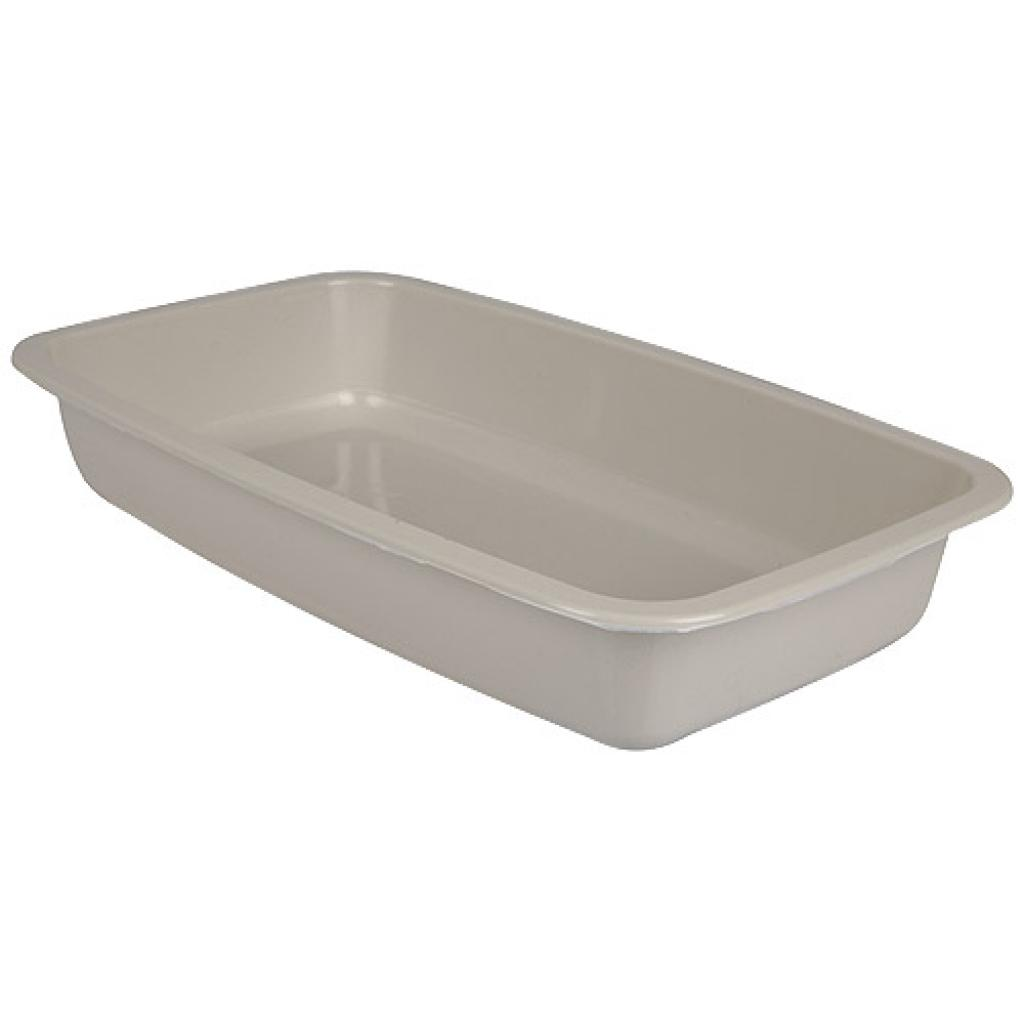 Grey GN 1/4 plastic container, 45mm depth